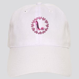 Pink High Heel Stiletto, Rose and Hearts Cap