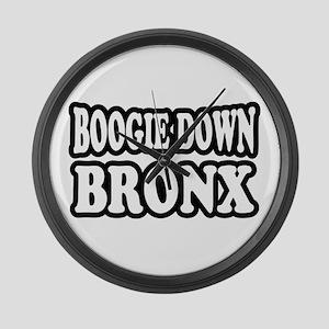 Boogie Down Bronx Large Wall Clock