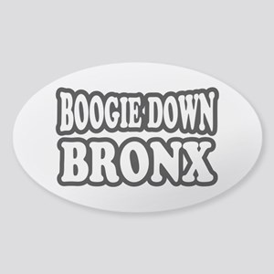 Boogie Down Bronx Sticker (Oval)