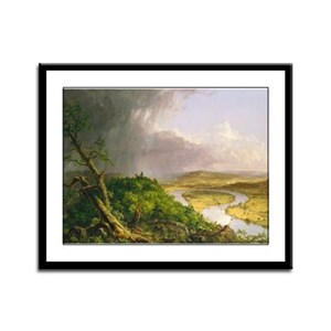 View from Mount Holyoke Framed Panel Print
