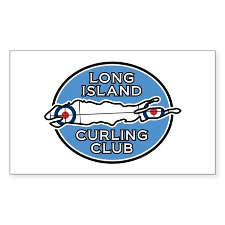Long Island Curling Club Sticker (Rectangle)