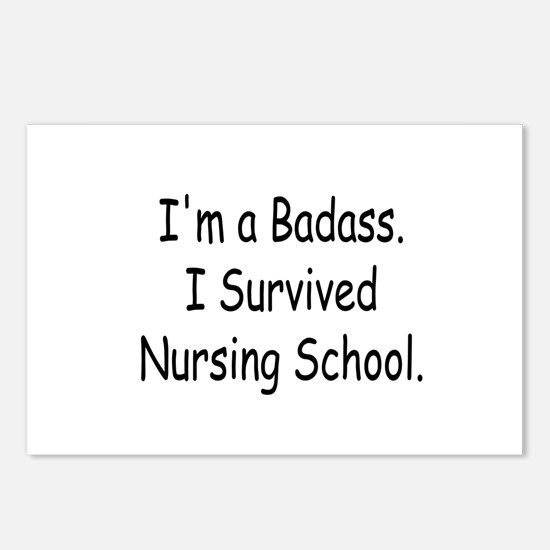 Badass Survives Nursing School Postcards (Package