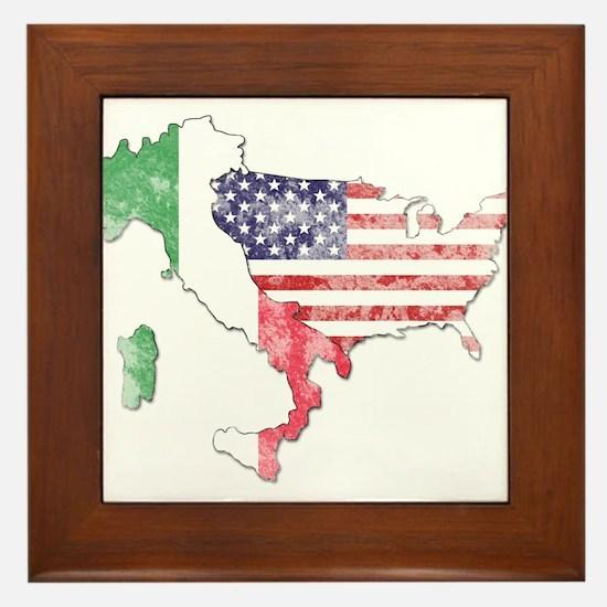 Italian American Star Framed Tile