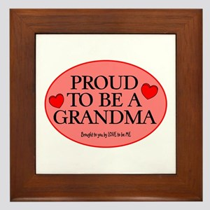 PROUD TO BE A GRANDMA Framed Tile