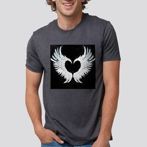 Angel wings heart  Mens Tri-blend T-Shirt