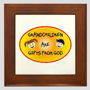 GRANDCHILDREN ARE GIFTS FROM GOD Framed Tile