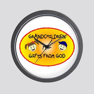 GRANDCHILDREN ARE GIFTS FROM GOD Wall Clock