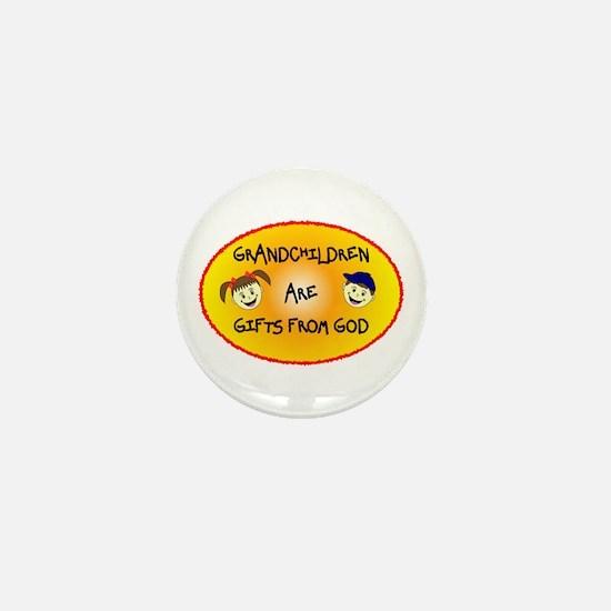 GRANDCHILDREN ARE GIFTS FROM GOD Mini Button