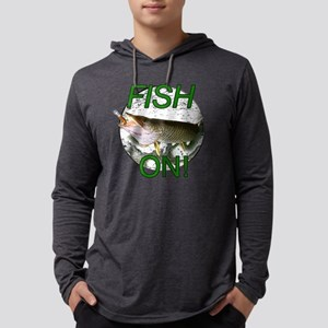 Musky fish on! Mens Hooded Shirt