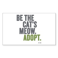 Be The Cats Meow, Adopt Sticker (Rectangle 10 pk)
