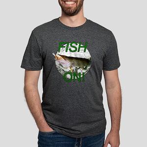 Musky fish on! Mens Tri-blend T-Shirt