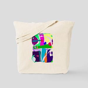 Colors Dots Stripes Curves Flair Tote Bag