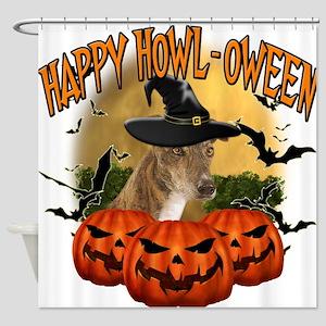 Happy Halloween Greyhound.png Shower Curtain
