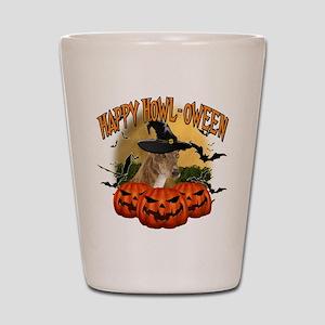 Happy Halloween Greyhound Shot Glass
