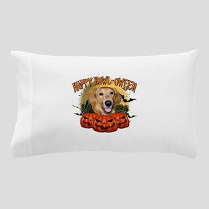 Happy Halloween Golden Retriever Pillow Case