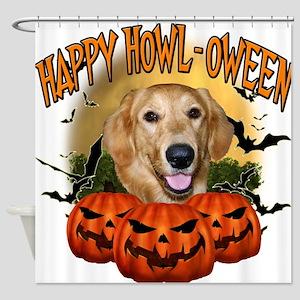 Happy Halloween Golden Retriever.png Shower Curtai