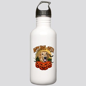 Happy Halloween Golden Retriever Stainless Wat