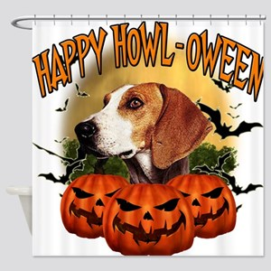 Happy Halloween Foxhound.png Shower Curtain