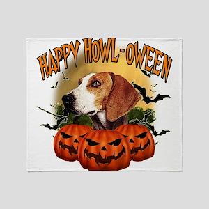 Happy Halloween Foxhound Throw Blanket