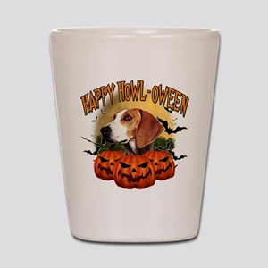 Happy Halloween Foxhound Shot Glass