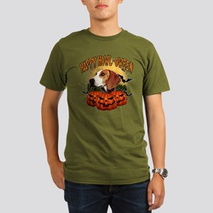 Happy Halloween Foxhound Organic Men's T-Shirt