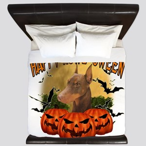 Happy Halloween Doberman King Duvet