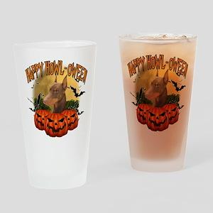 Happy Halloween Doberman Drinking Glass
