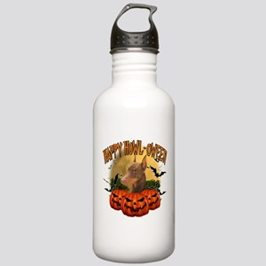 Happy Halloween Doberman Stainless Water Bottl