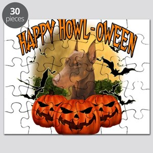 Happy Halloween Doberman Puzzle