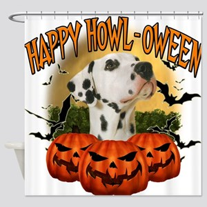 Happy Halloween Dalmation.png Shower Curtain