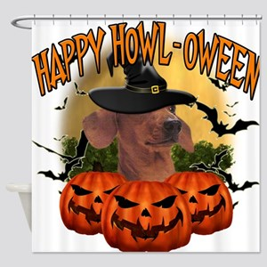 Happy Halloween Dachshund.png Shower Curtain