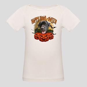 Happy Halloween Black Lab Organic Baby T-Shirt