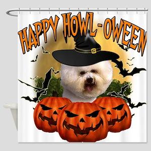 Happy Halloween Bichon Frise.png Shower Curtain