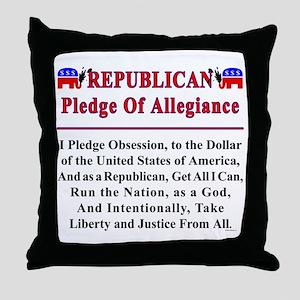 Republican Pledge Throw Pillow