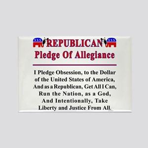 Republican Pledge Rectangle Magnet