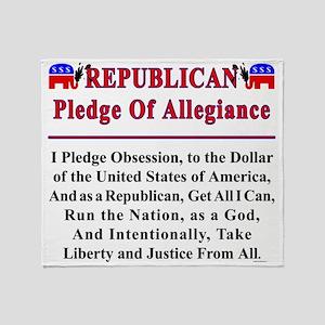 Republican Pledge Throw Blanket