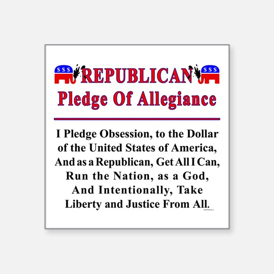 """Republican Pledge Square Sticker 3"""" x 3"""""""