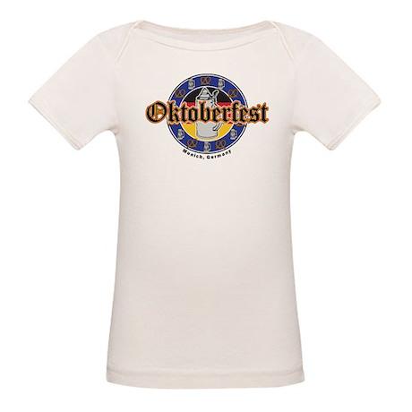 Oktoberfest Beer and Pretzels Organic Baby T-Shirt