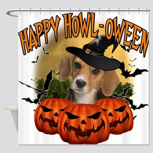 Happy Halloween Beagle.png Shower Curtain