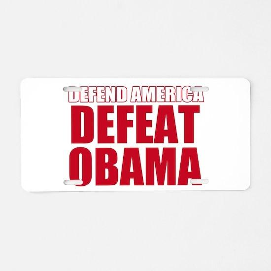 Anti Obama 2012 Aluminum License Plate