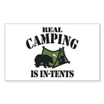 Real Camping Sticker (Rectangle 10 pk)