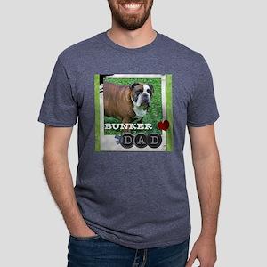 English bulldog and dad Mens Tri-blend T-Shirt