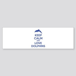 Keep calm and love dolphins Sticker (Bumper)