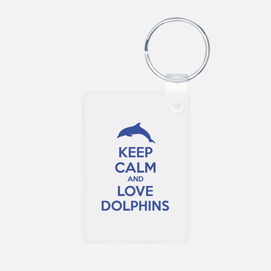 Keep calm and love dolphins Keychains