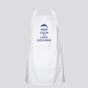 Keep calm and love dolphins Apron