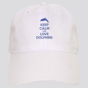 Keep calm and love dolphins Cap