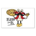 Pizza Pi Sticker (Rectangle 10 pk)