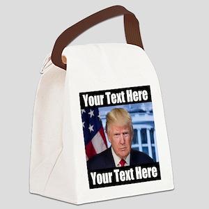 President Donald Trump Meme Canvas Lunch Bag