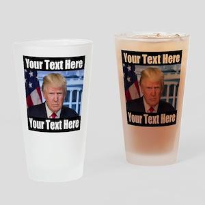 President Donald Trump Meme Drinking Glass