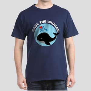 Save the whales Dark T-Shirt